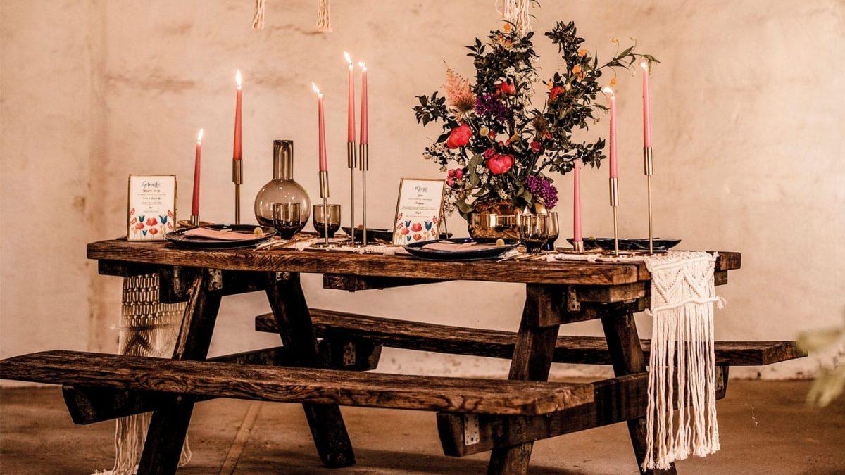 Schöne Tischdeko für Familienfeiern – Feste feiern mit Kindern // HIMBEER