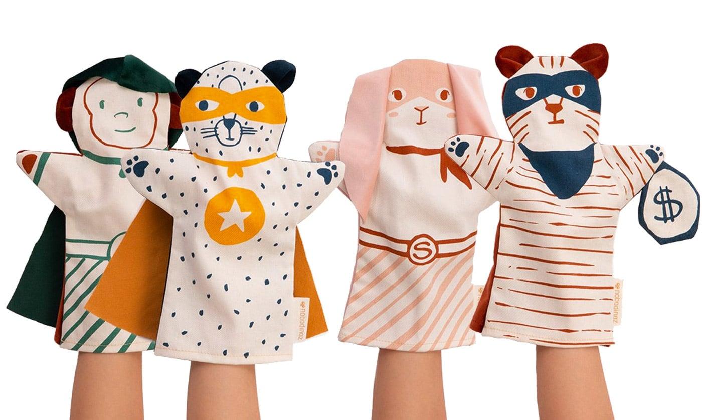 Schöne Spielsachen für Kinder: Handpuppen von nobodinoz // HIMBEER