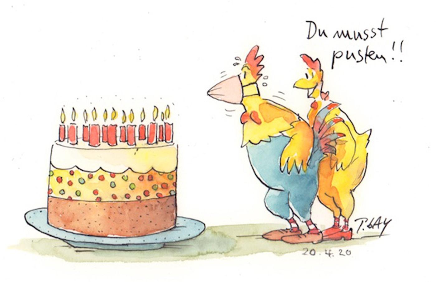 Cartoon: Du musst pusten // HIMBEER