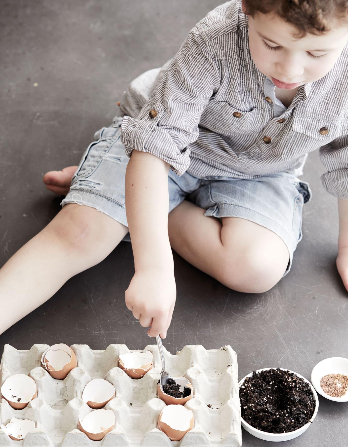 Pflanzideen für Kinder: Pflanzen vermehren mit Kindern // HIMBEER