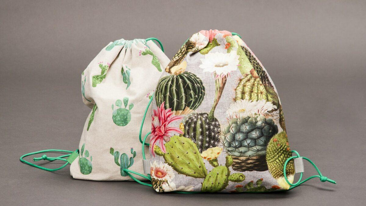 Turnbeutel für Kinder mit Kaktusmuster // HIMBEER