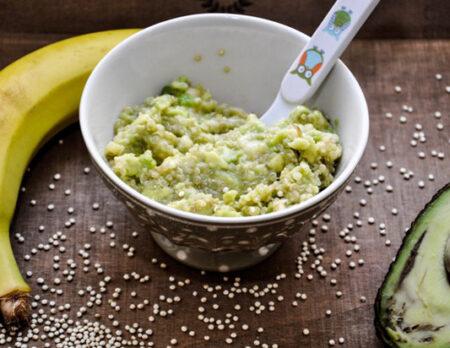 rezept für Babybrei: Avocado-Banane-Quinoa-Brei // HIMBEER