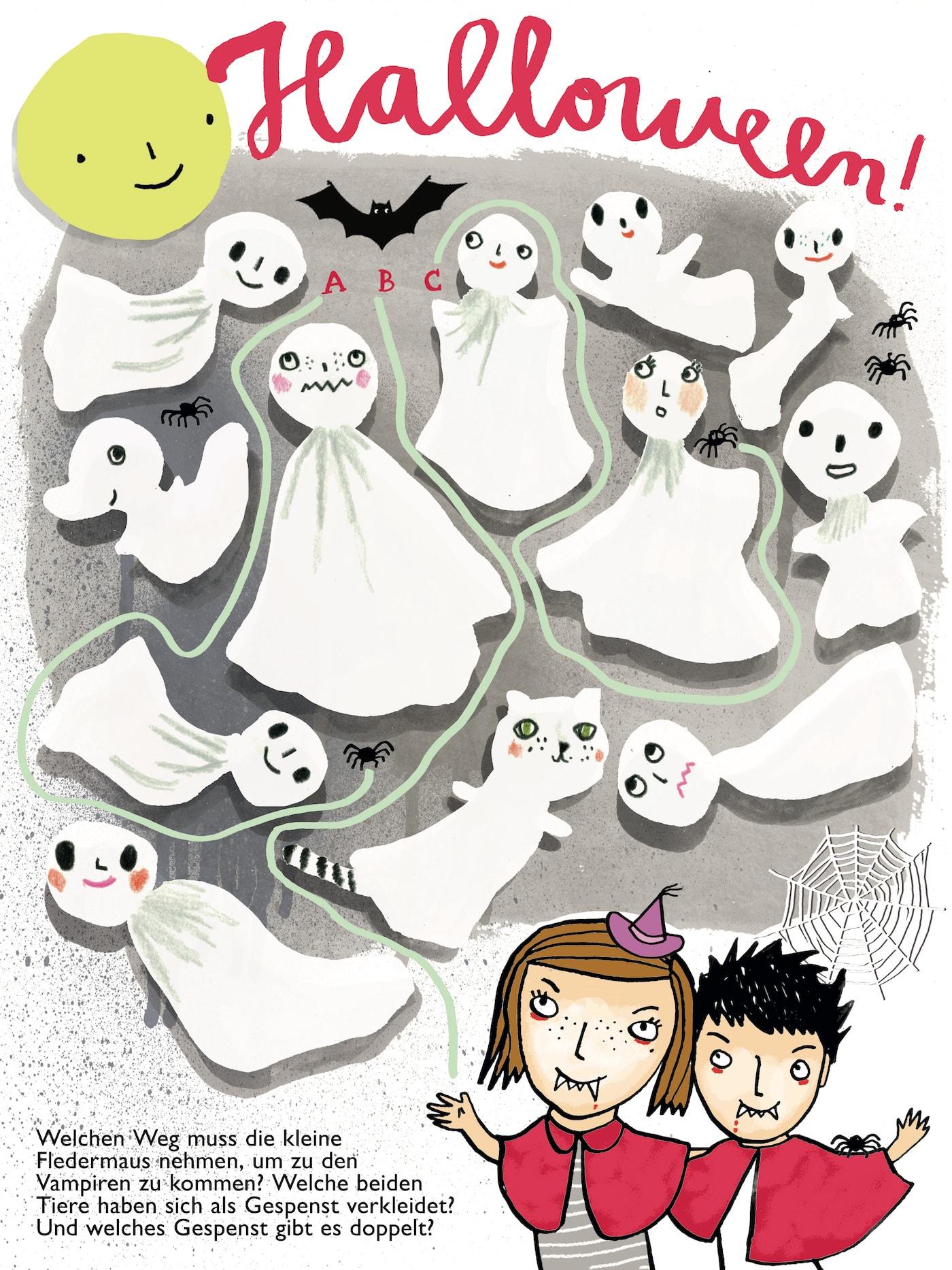 HIMBEERchen Kinderrätsel zum Halloweenfest // HIMBEER