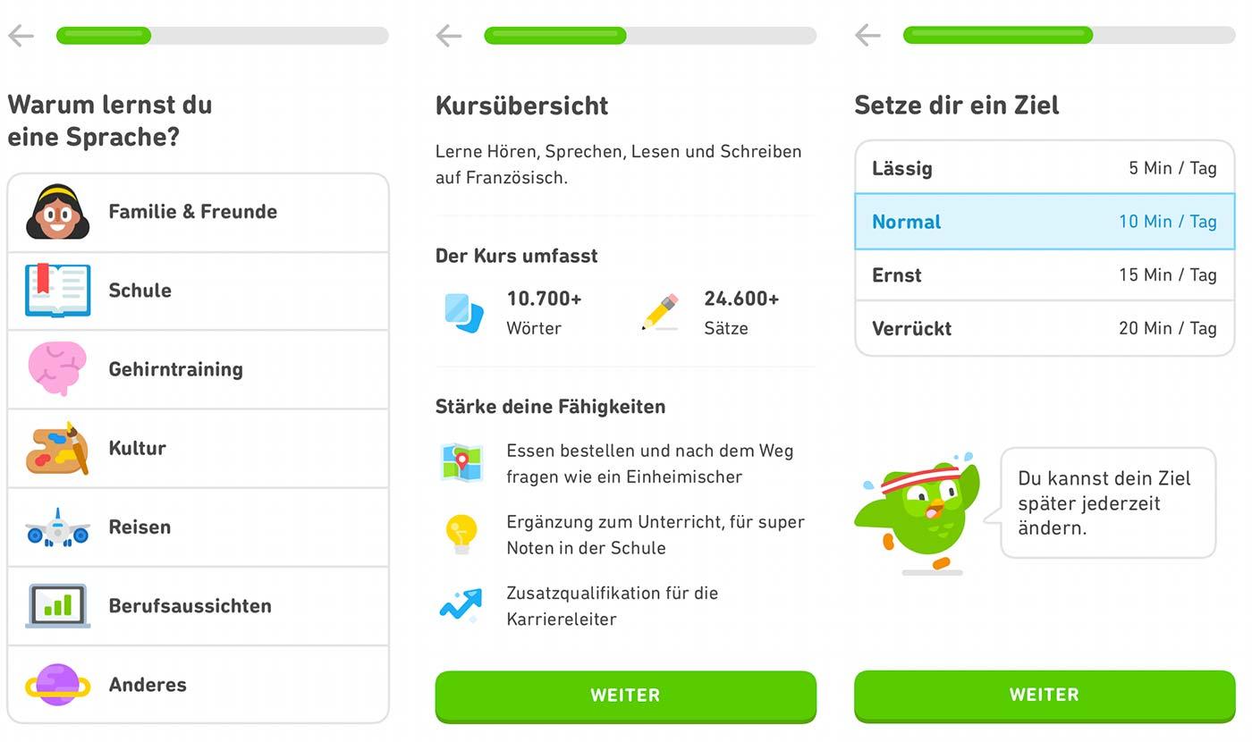 Sprachlern-App für Kinder und Eltern: Duolingo