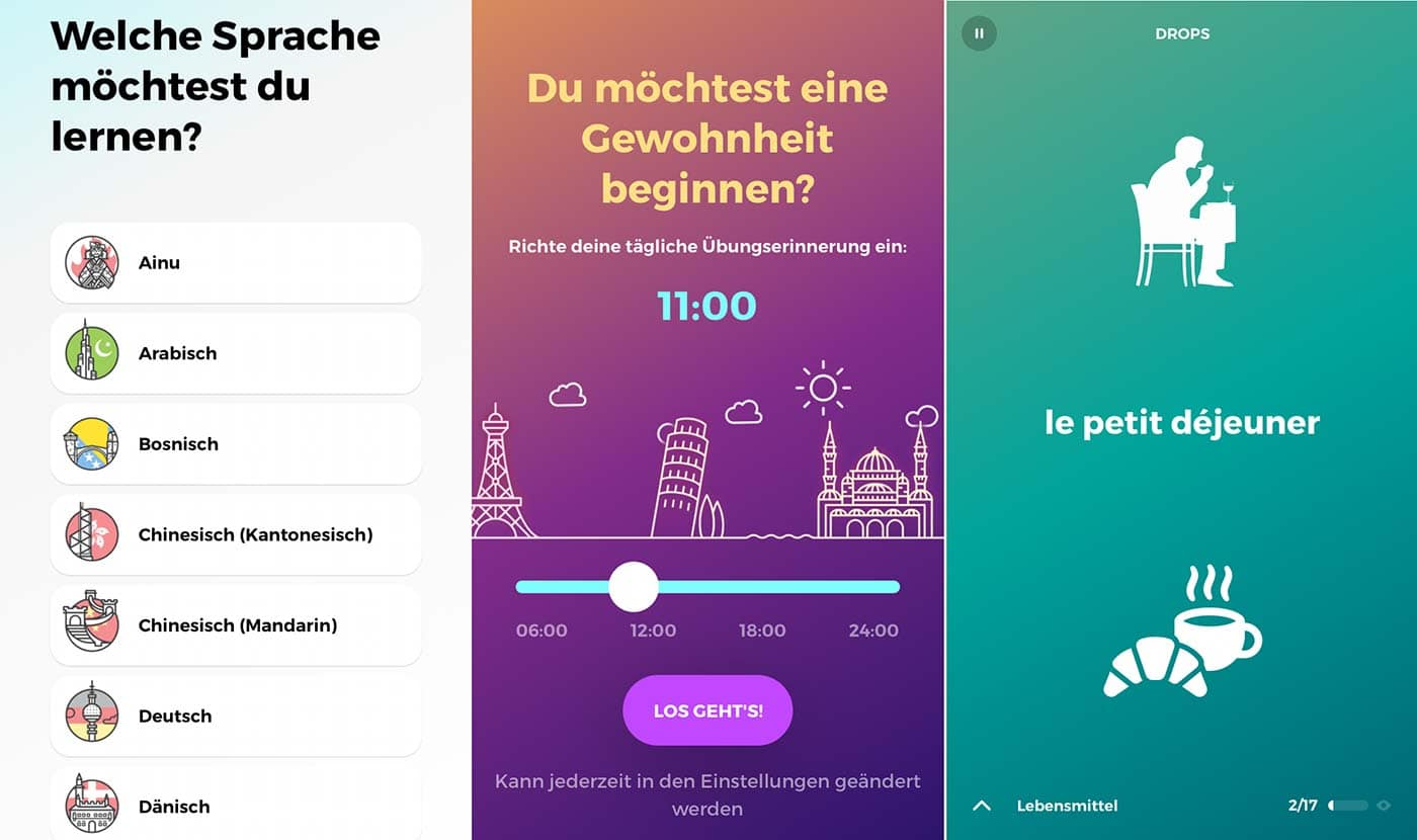 Sprachlern-App für Kinder und Eltern: Drops