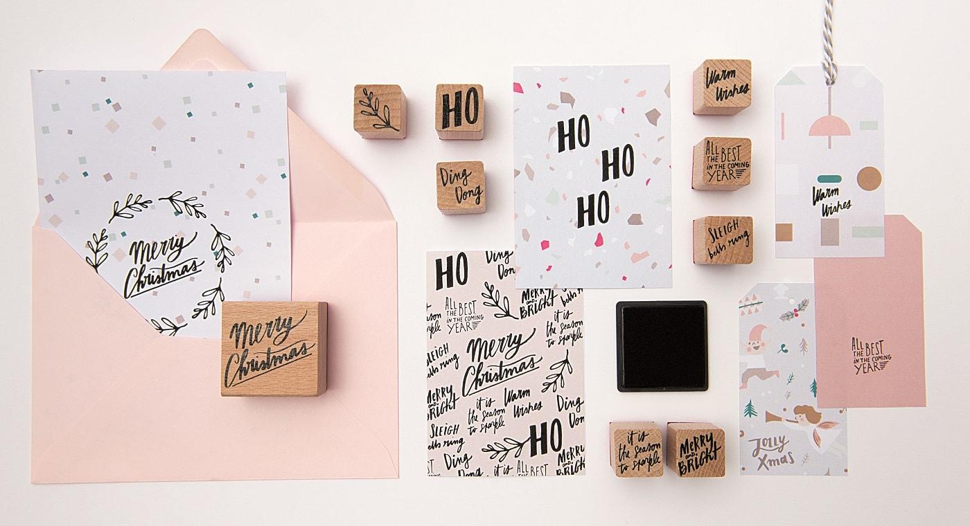 Schöne Nikolaus-Geschenke für Kinder: Stempelset Weihnachten // HIMBEER