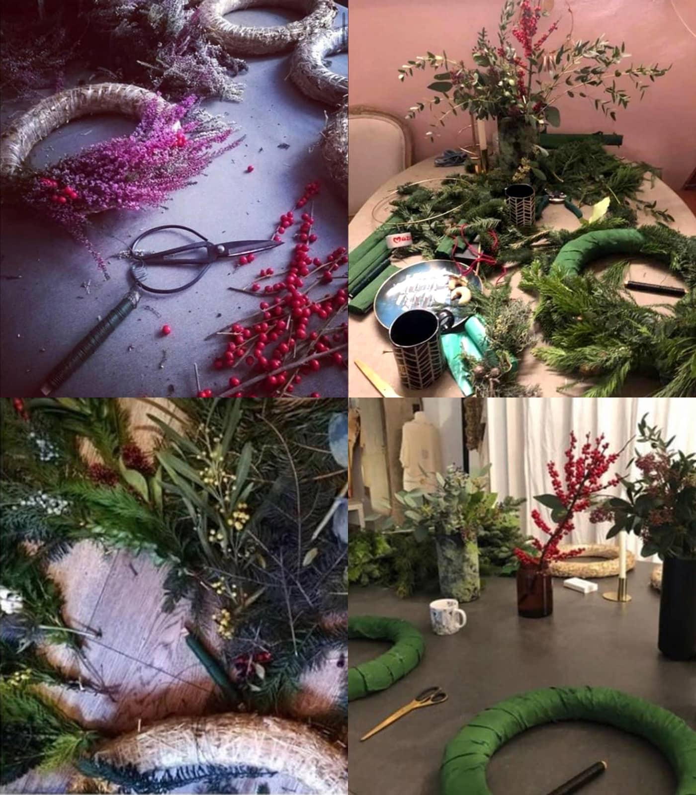 Weihnachtskranz-Workshop via Zoom // HIMBEER