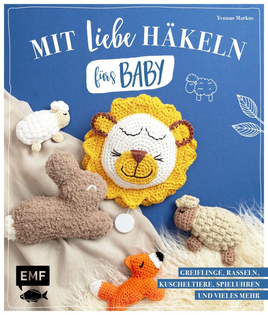 Niedliche Schaf-Rassel aus Mit Liebe häkeln fürs Baby // HIMBEER