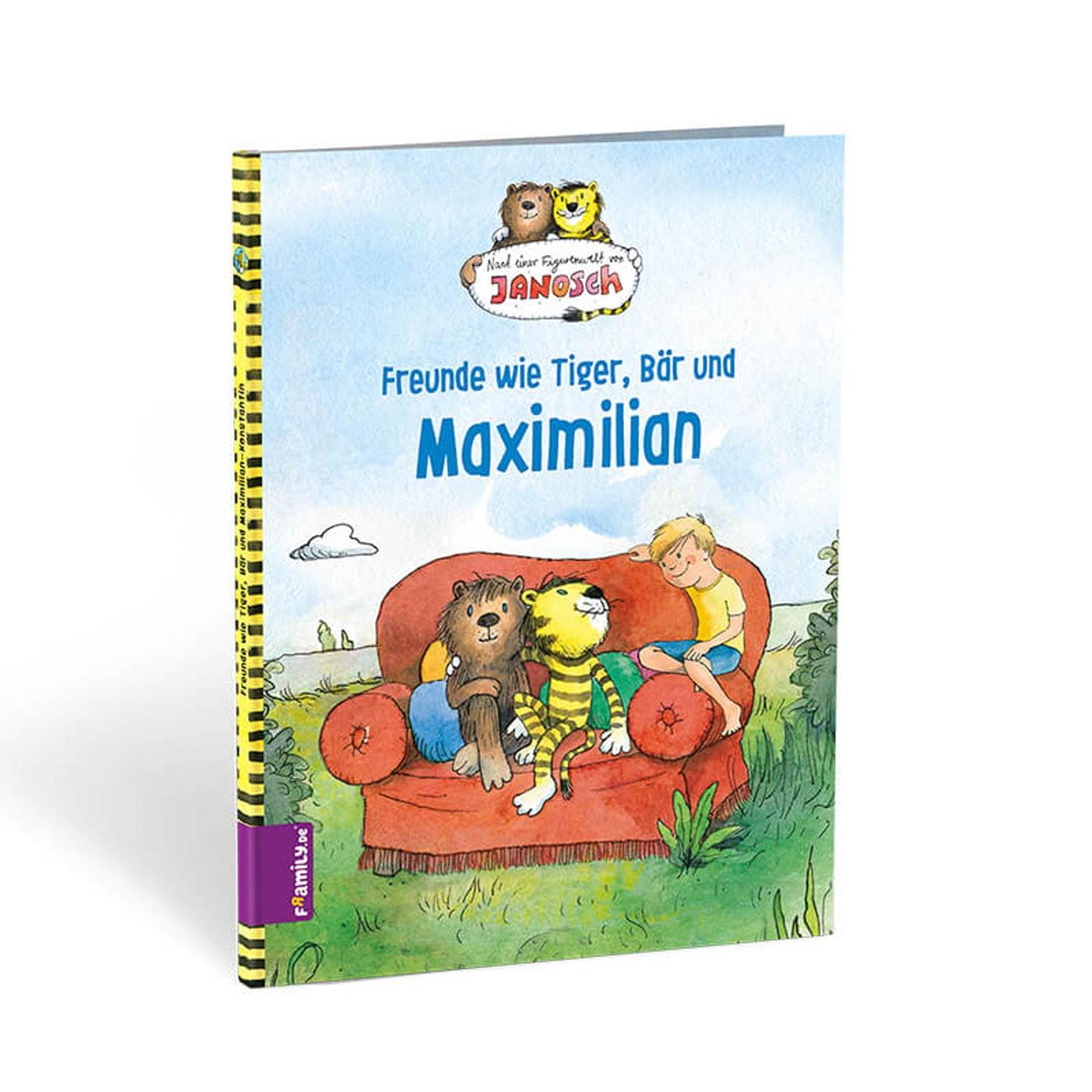 Geschenke-Tipp für Kinder: individualisiertes Kinderbuch mit Janosch Tiger und Bär// HIMBEER