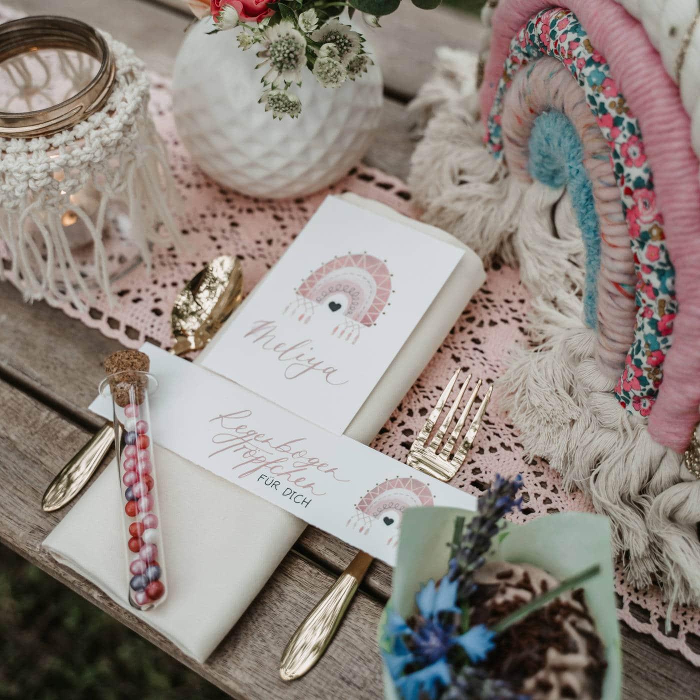 Kinderwillkommensfest feiern – Dekorationsideen // HIMBEER