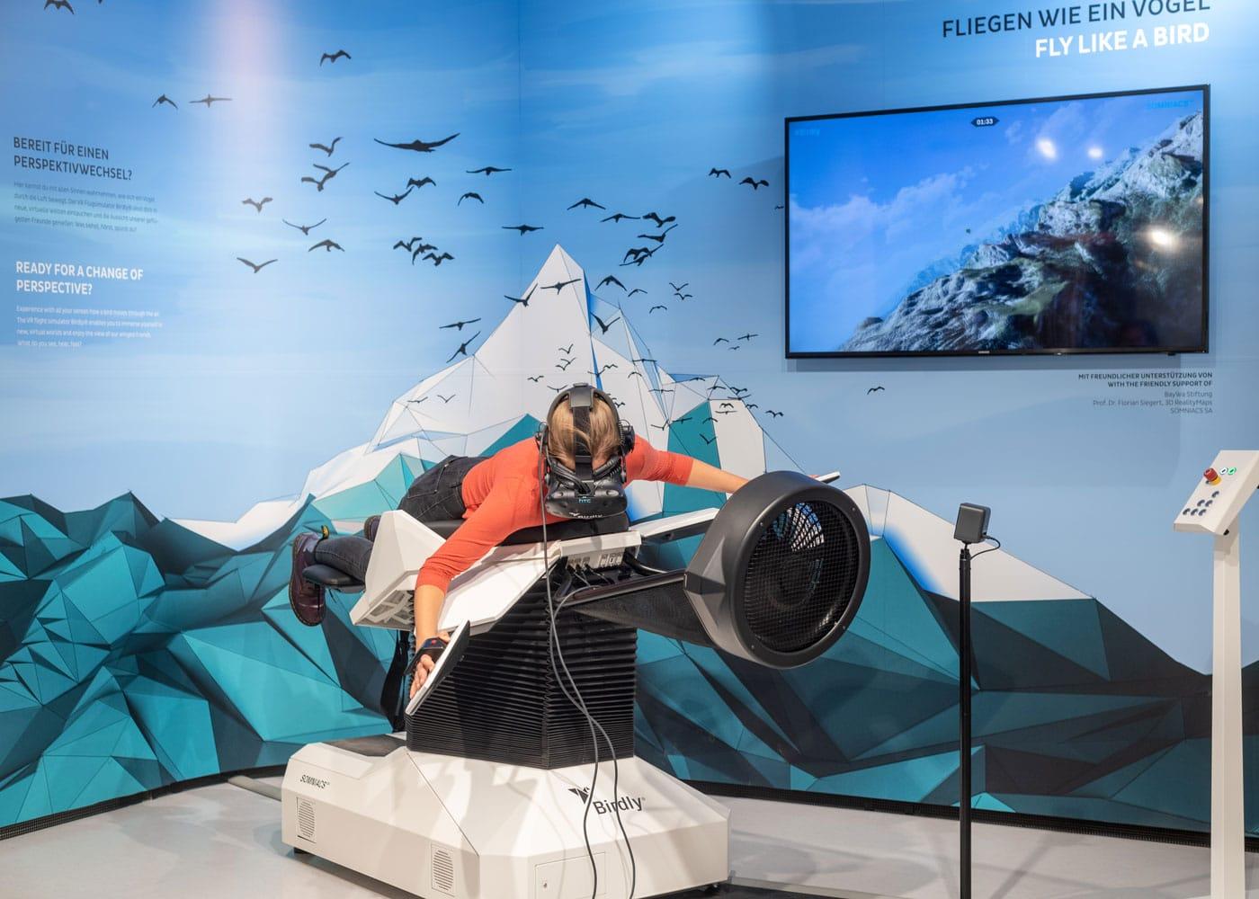 Vogelflugsimulator im BIOTOPIA Lab // HIMBEER