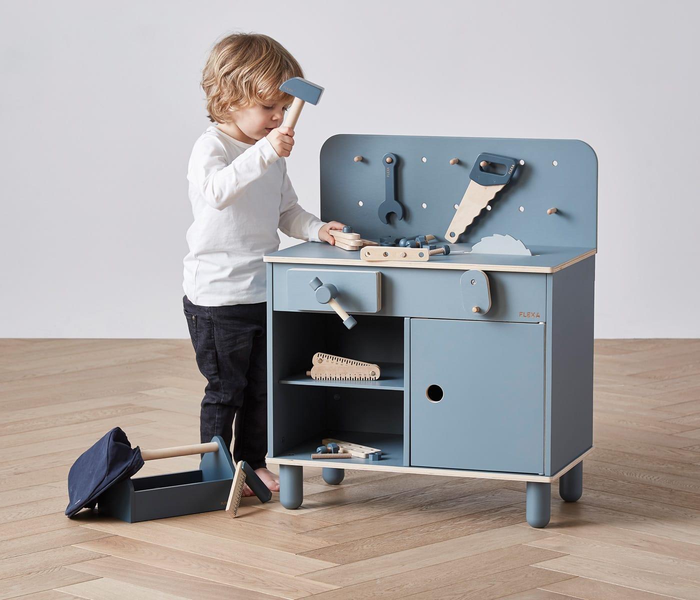 Lieblingssachen für Kinder: Holz-Werkbank // HIMBEER