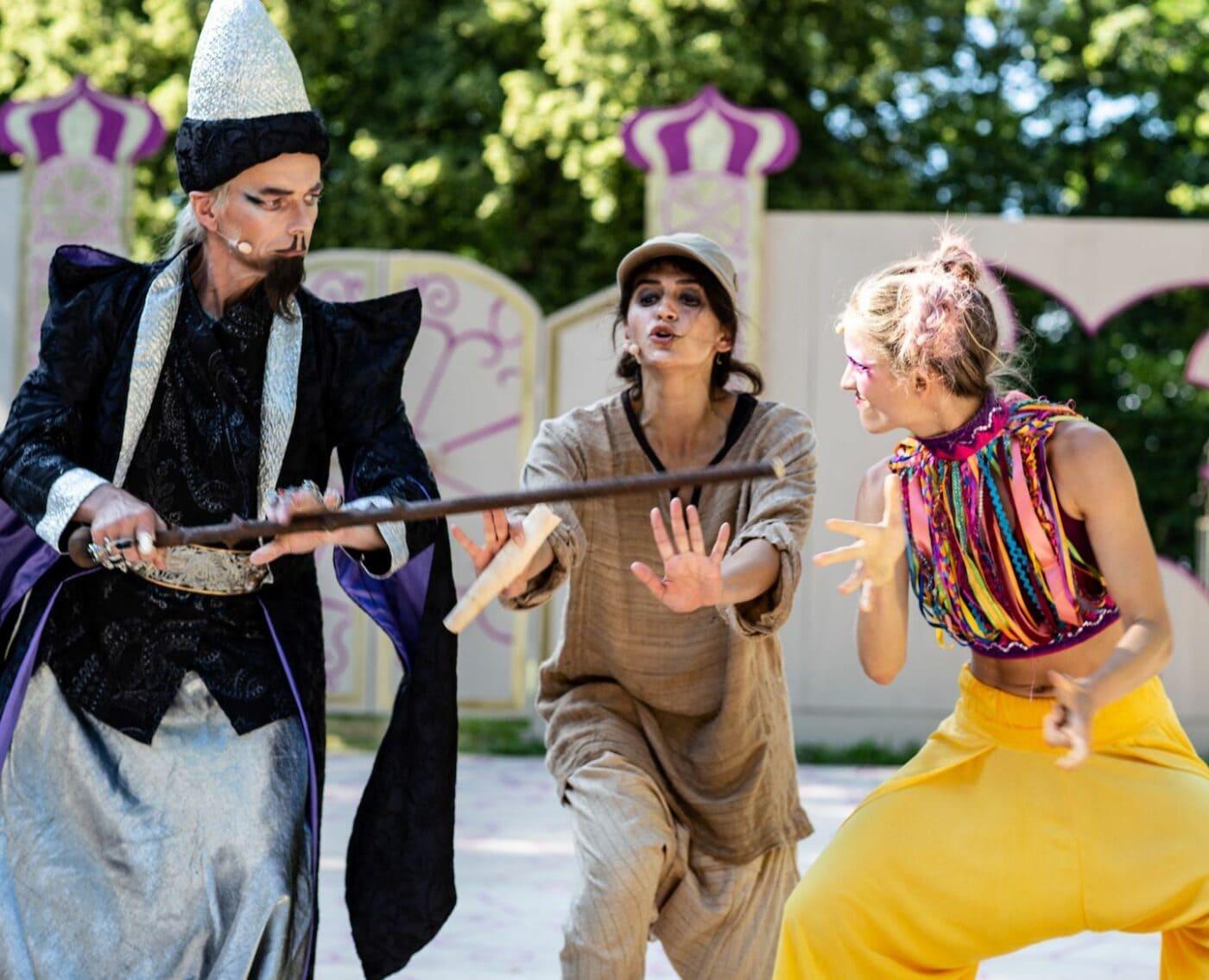 Tipps fürs Wochenende 23.-25.07.2021: Theater in Kempten Aladin und die Wunderlampe für Kinder und Familien // HIMBEER