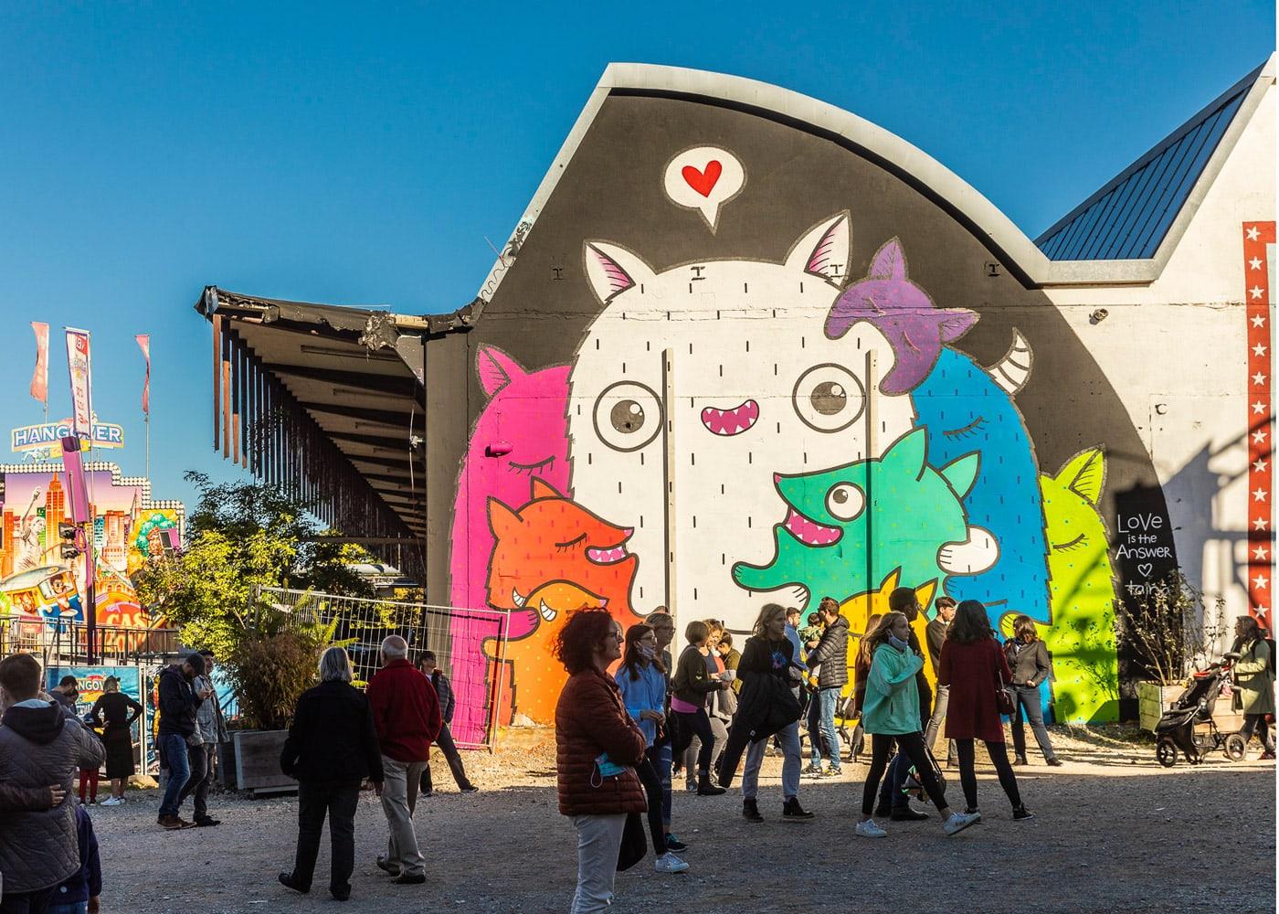Female Graffiti- und Street Art-Festival in München im Werksviertel // HIMBEER