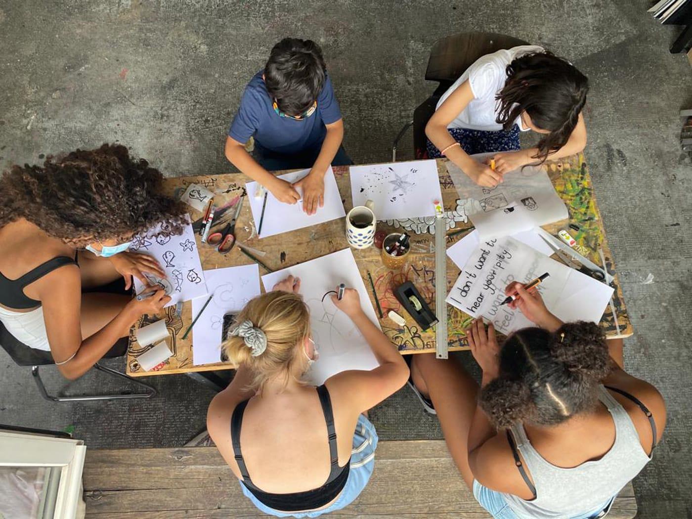 Kunst-Workshops bei Kunst im Quadrat // HIMBEER