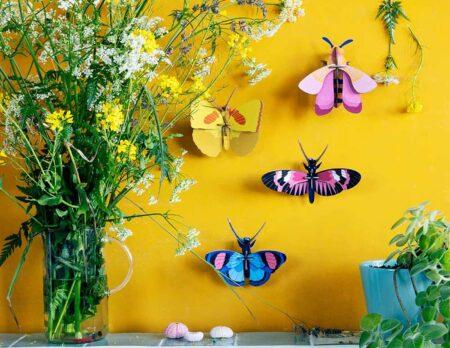 Lieblingssachen im Sommer: 3D-Papp-Schmetterlinge // HIMBEER