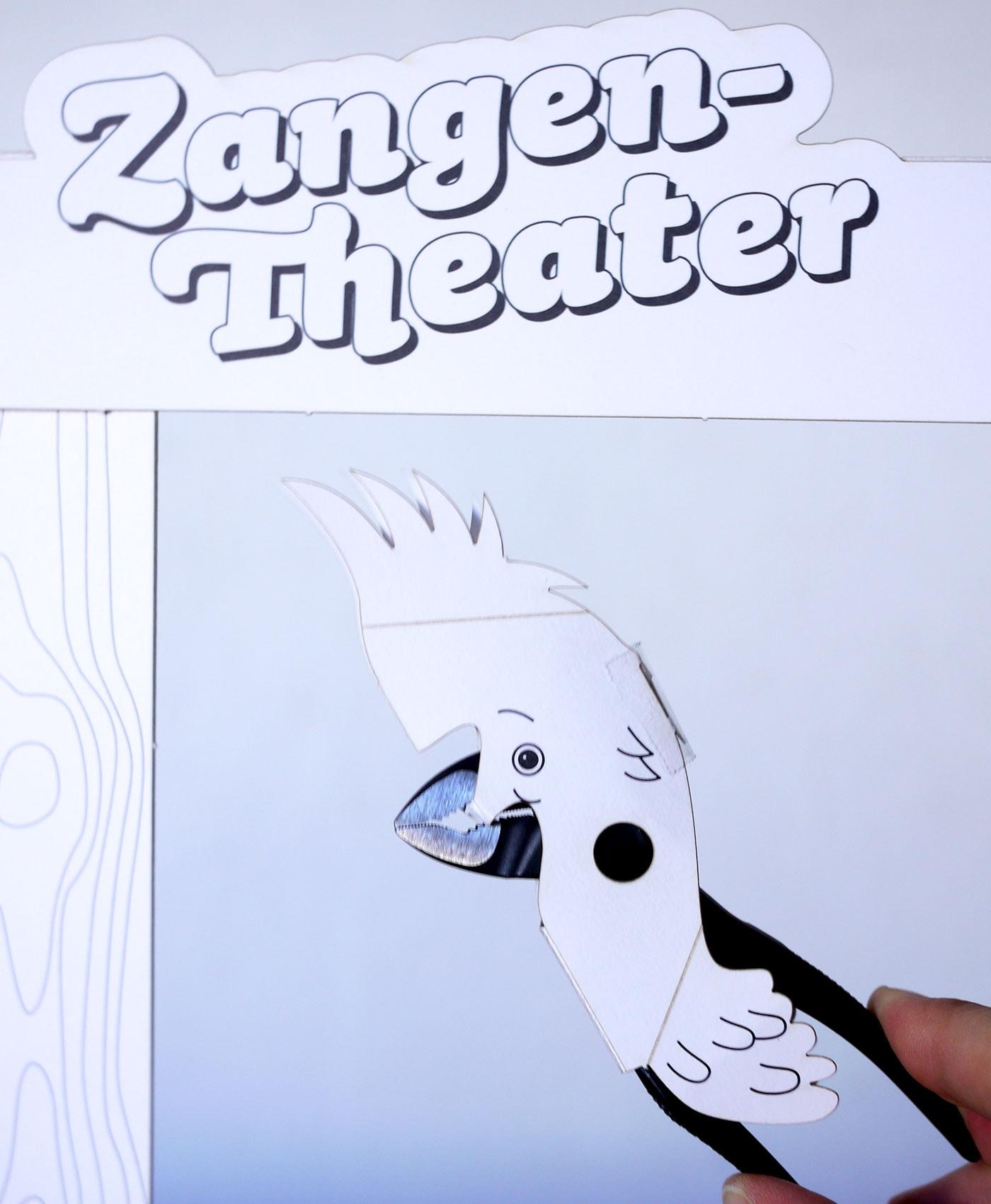 Zangen-Theater mit Kindern basteln // HIMBEER