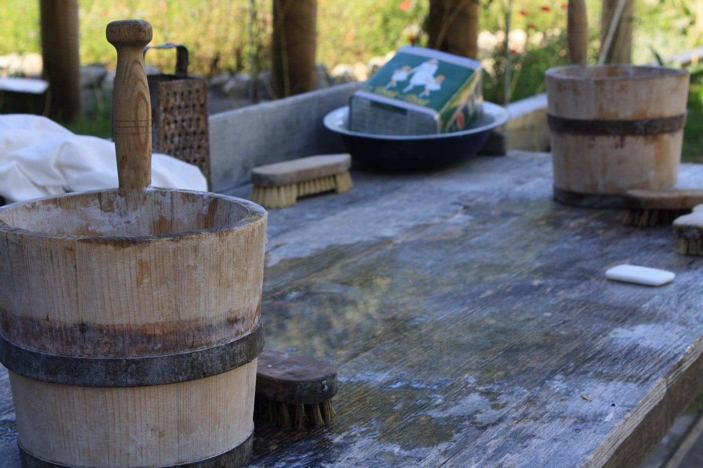 Wochenende: Kinder erleben einen historischen Waschtag im Bauernhausmuseum Allgäu-Oberschwaben Wolfegg // HIMBEER