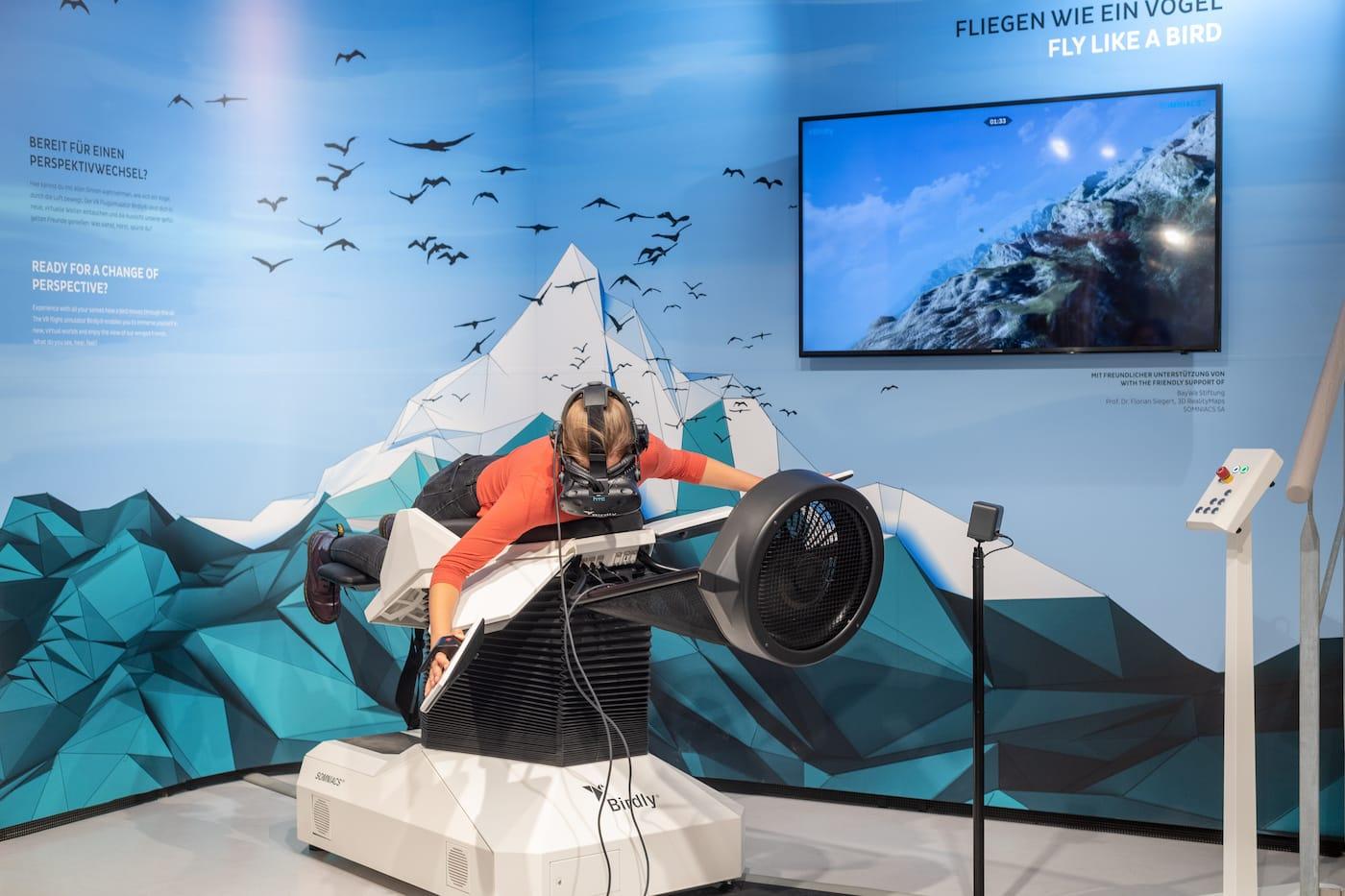 Wie ein Vogel fliegen mit dem Virtual Reality Flugsimulator im BIOTOPIA München // HIMBEER