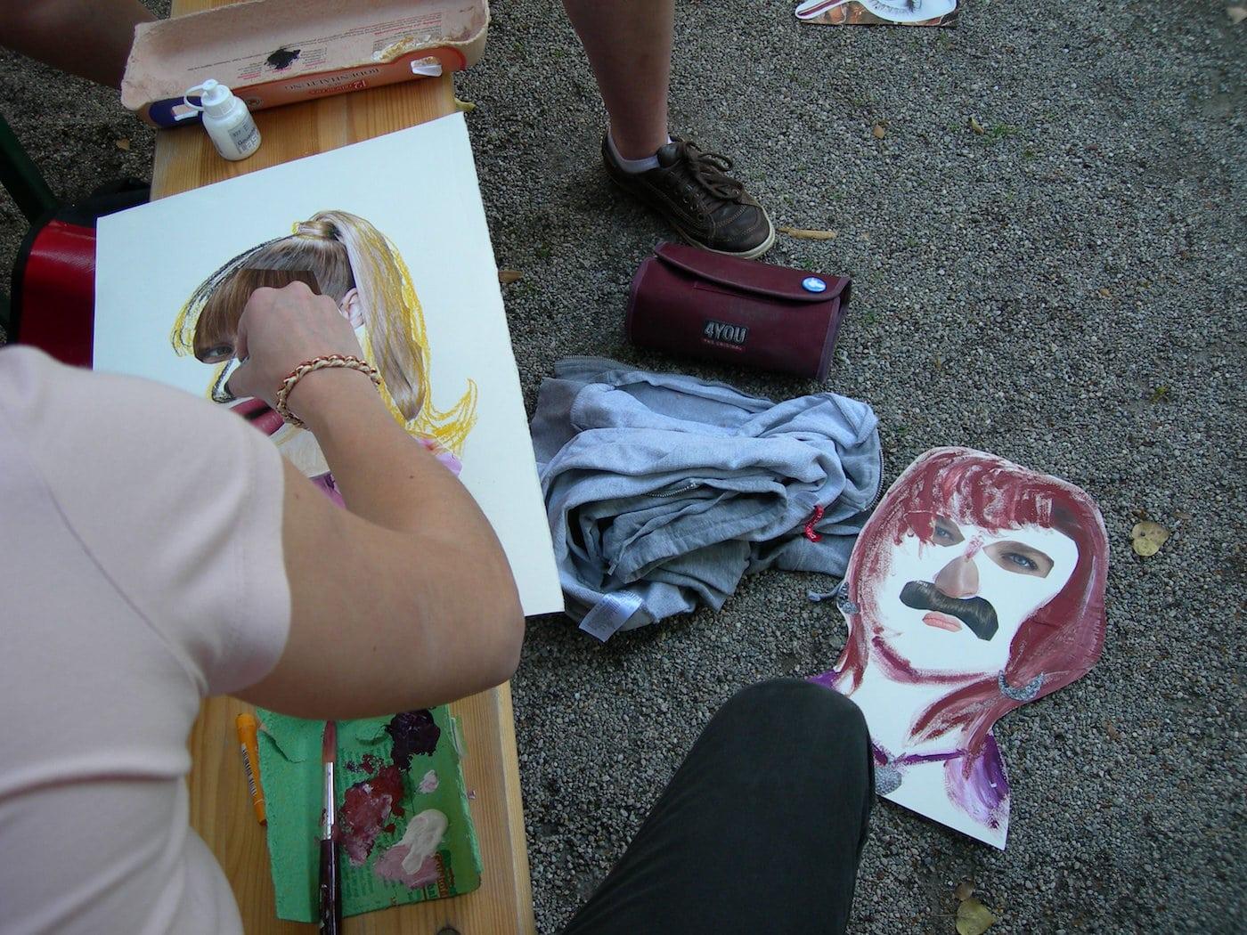Kinder werden kreativ im Fränzchen Veranda Atelier // HIMBEER