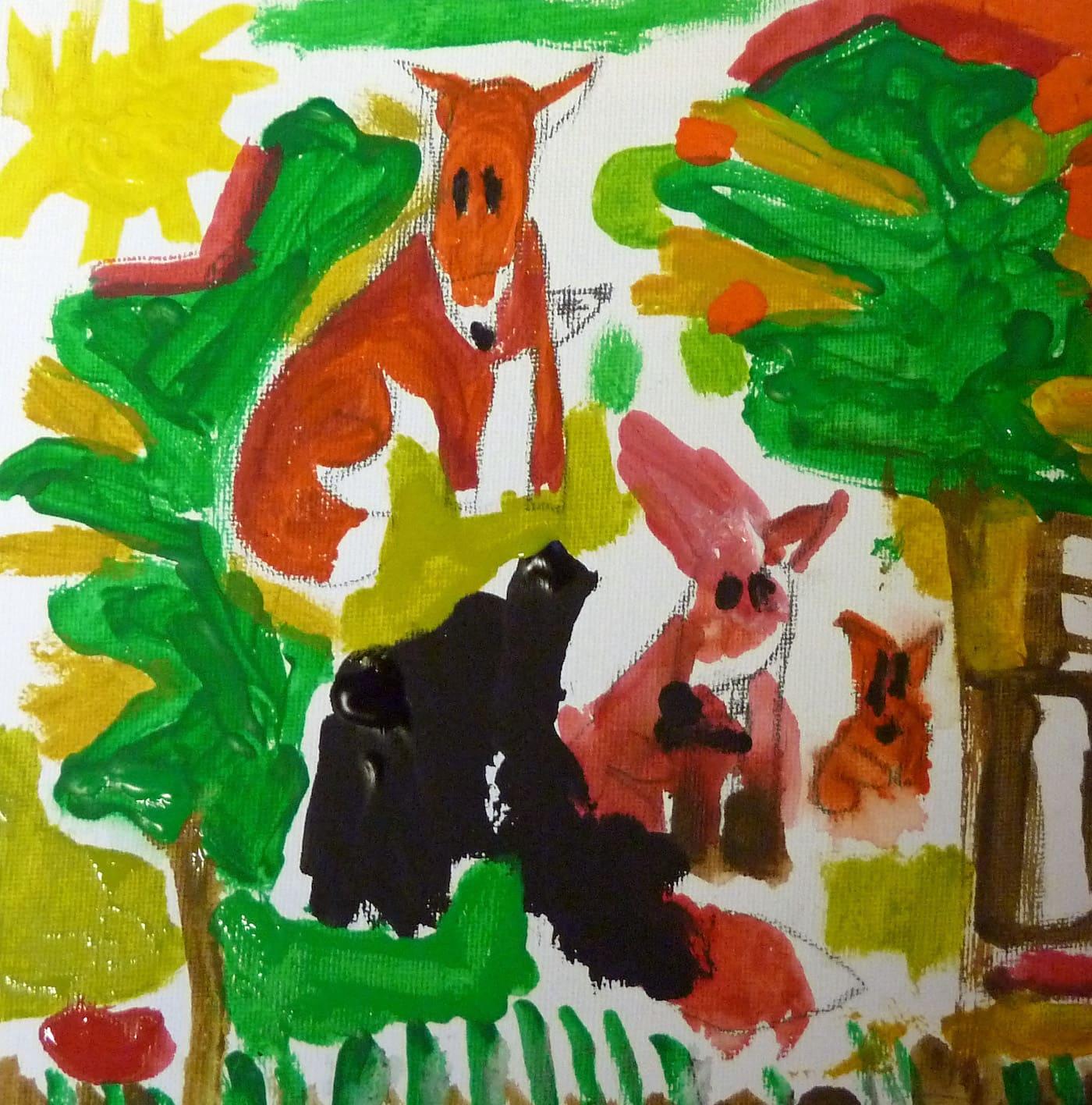 Malen mit Acryl für Kinder // HIMBEER